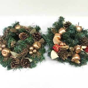 Christmas Holiday Candle Rings Artificial Greenery